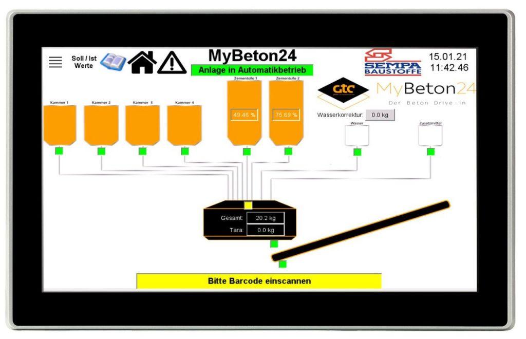 Das HMI/SPS-Kombigerät XV300 mit Touchdisplay ermöglicht eine intuitive Bedienung.