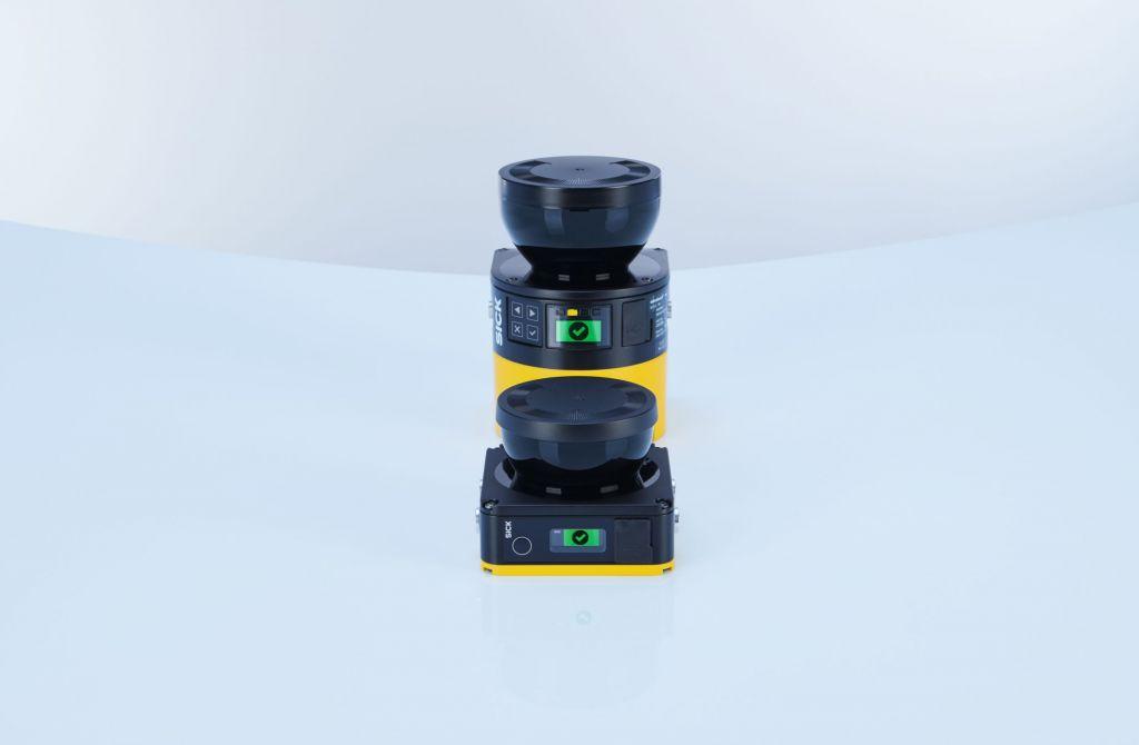 Der neue Sicherheitslaserscanner eignet sich z.B. für AGVs, Roboter oder mobile Plattformen.