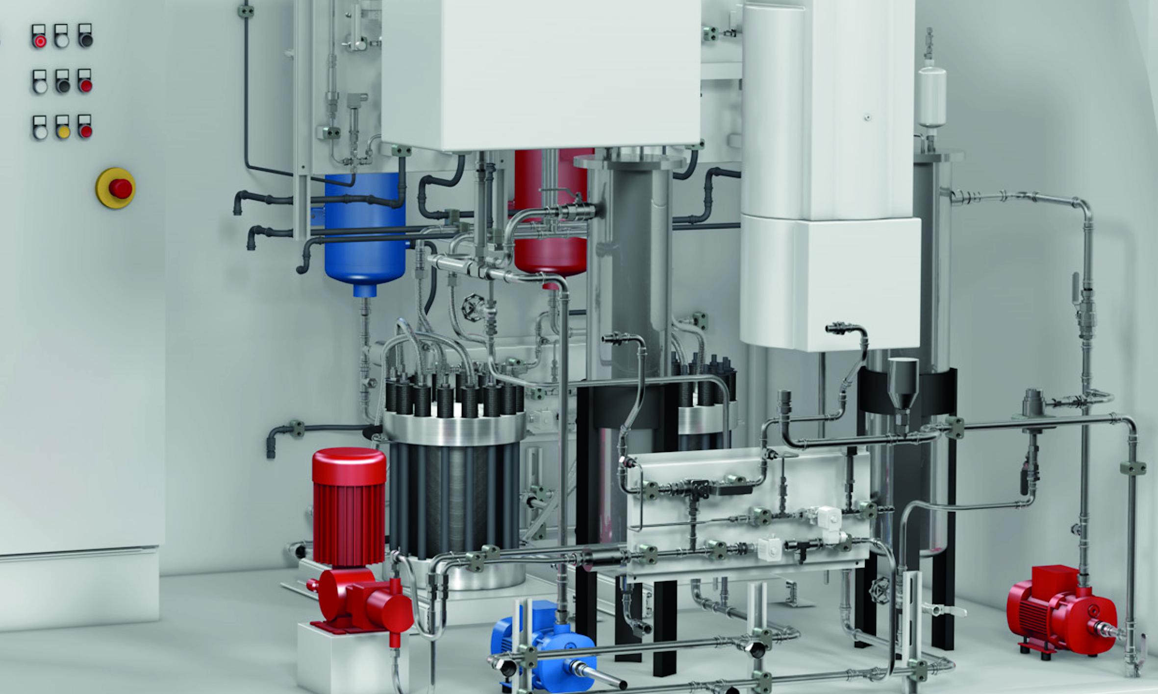 3D-CAD-Anlagenplanung für grüne Wasserstoffanlagen